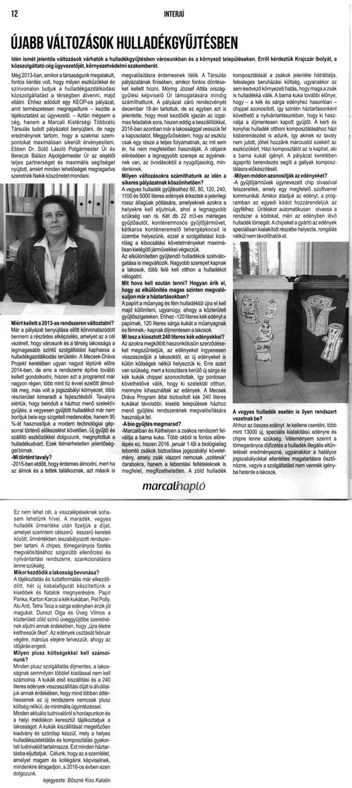 Marcali Napló 2016.01.